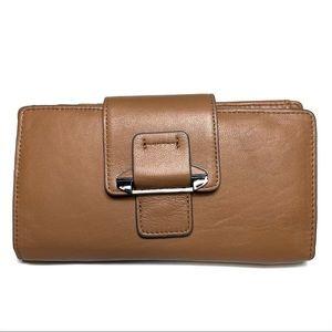 Kooba Jonnie Wallet Snap Brown Purple Leather